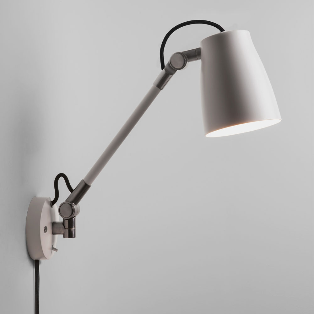 Luxo Spotlight Wall Light with arm in White